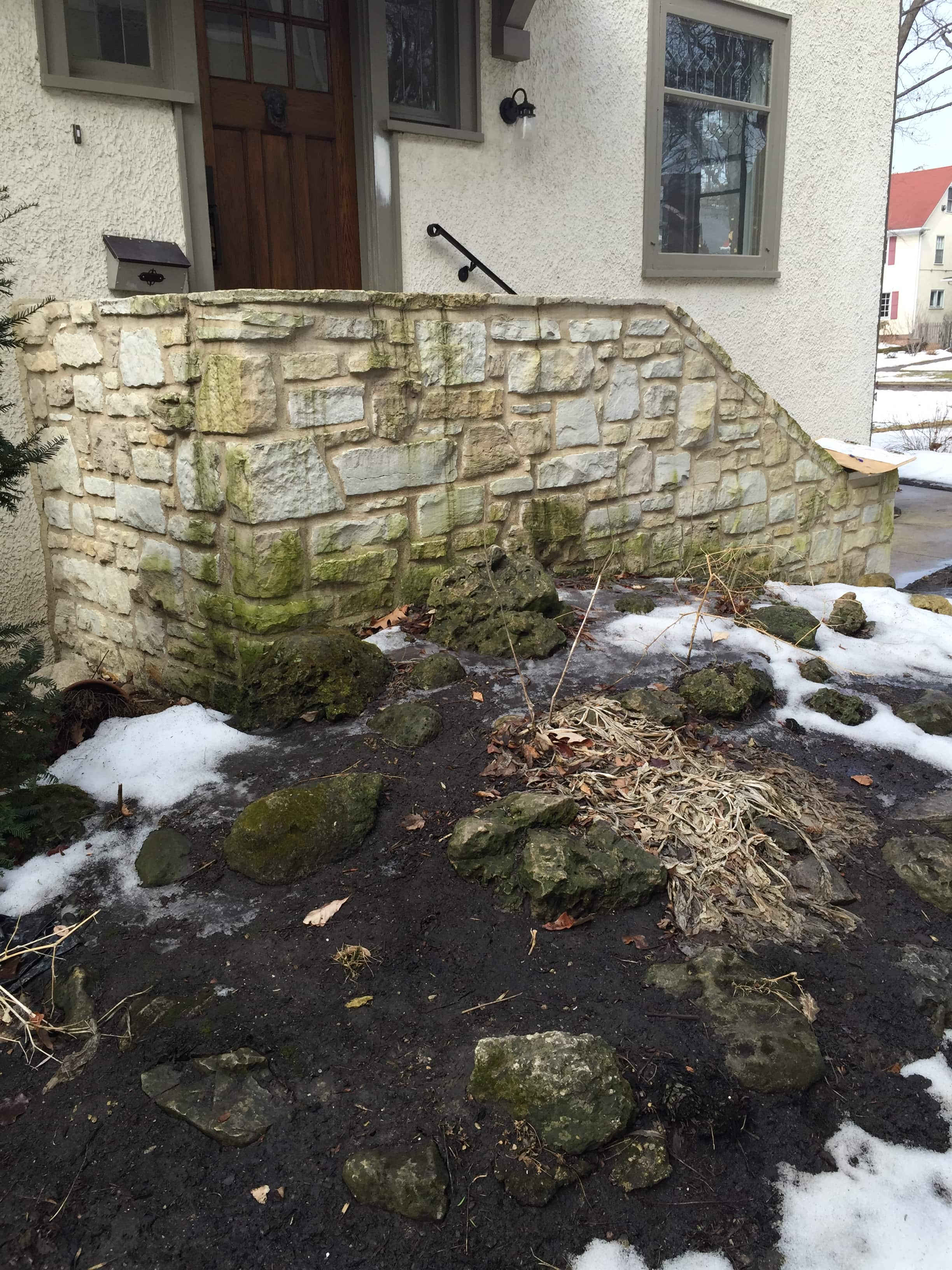 Before Photo Of Eroding Landscaping
