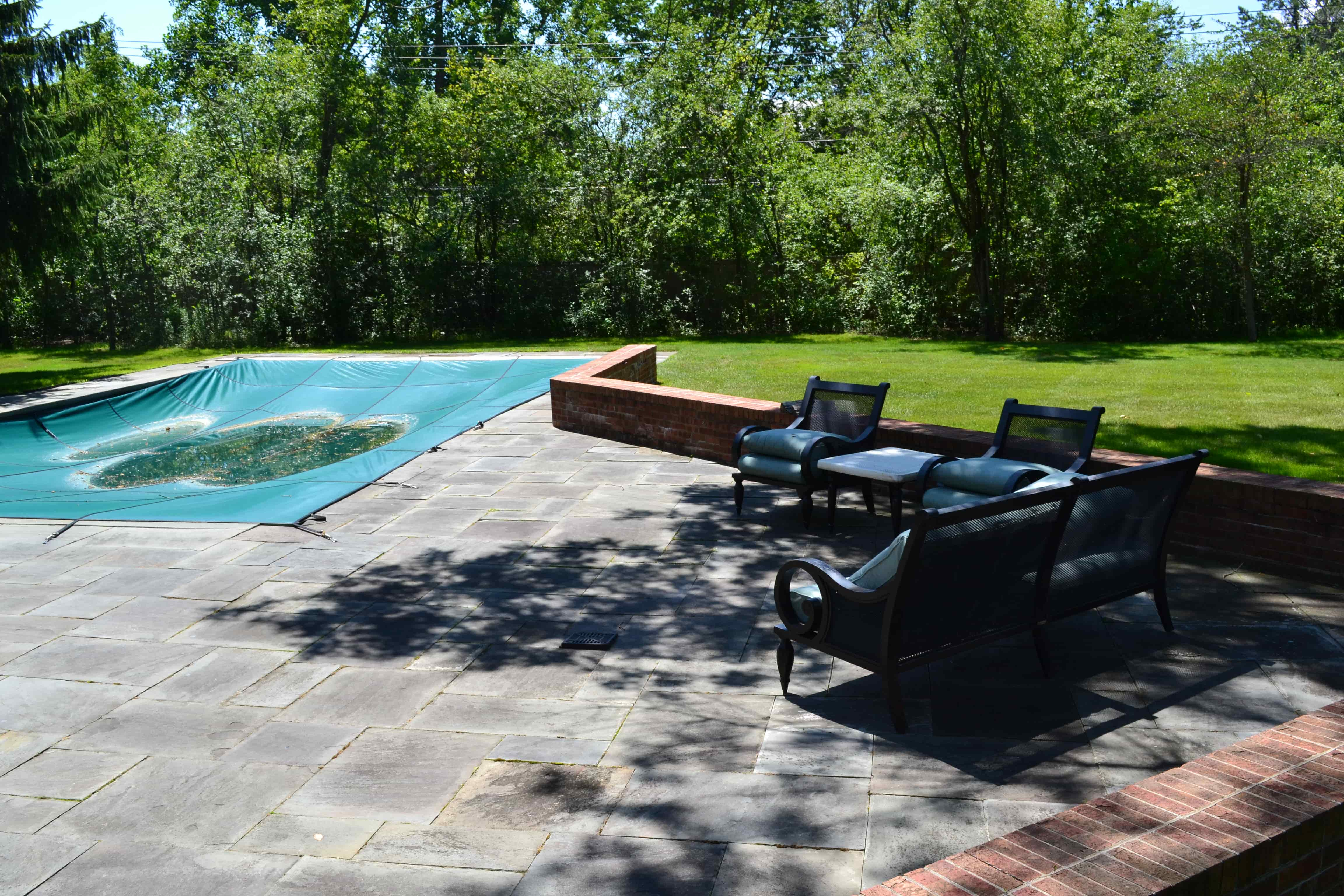 Before Photo Of Pool Deck