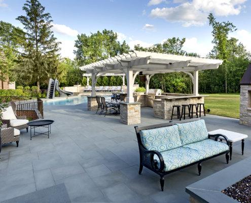 Bluestone Patio, Fire Pit, Pergola, Rotisserie & Outdoor Kitchen