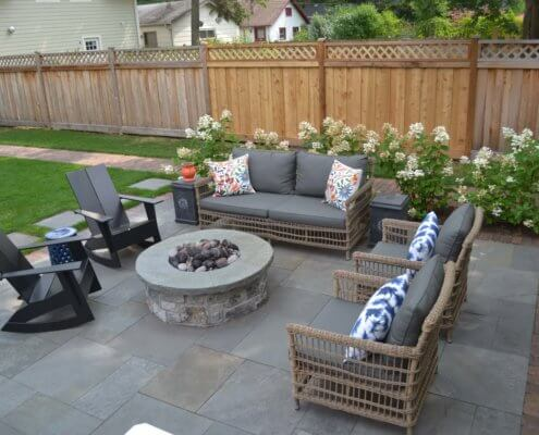 Maintenance Free Deck, Bluestone Patio & Natural Stone Fire Pit Evanston, IL