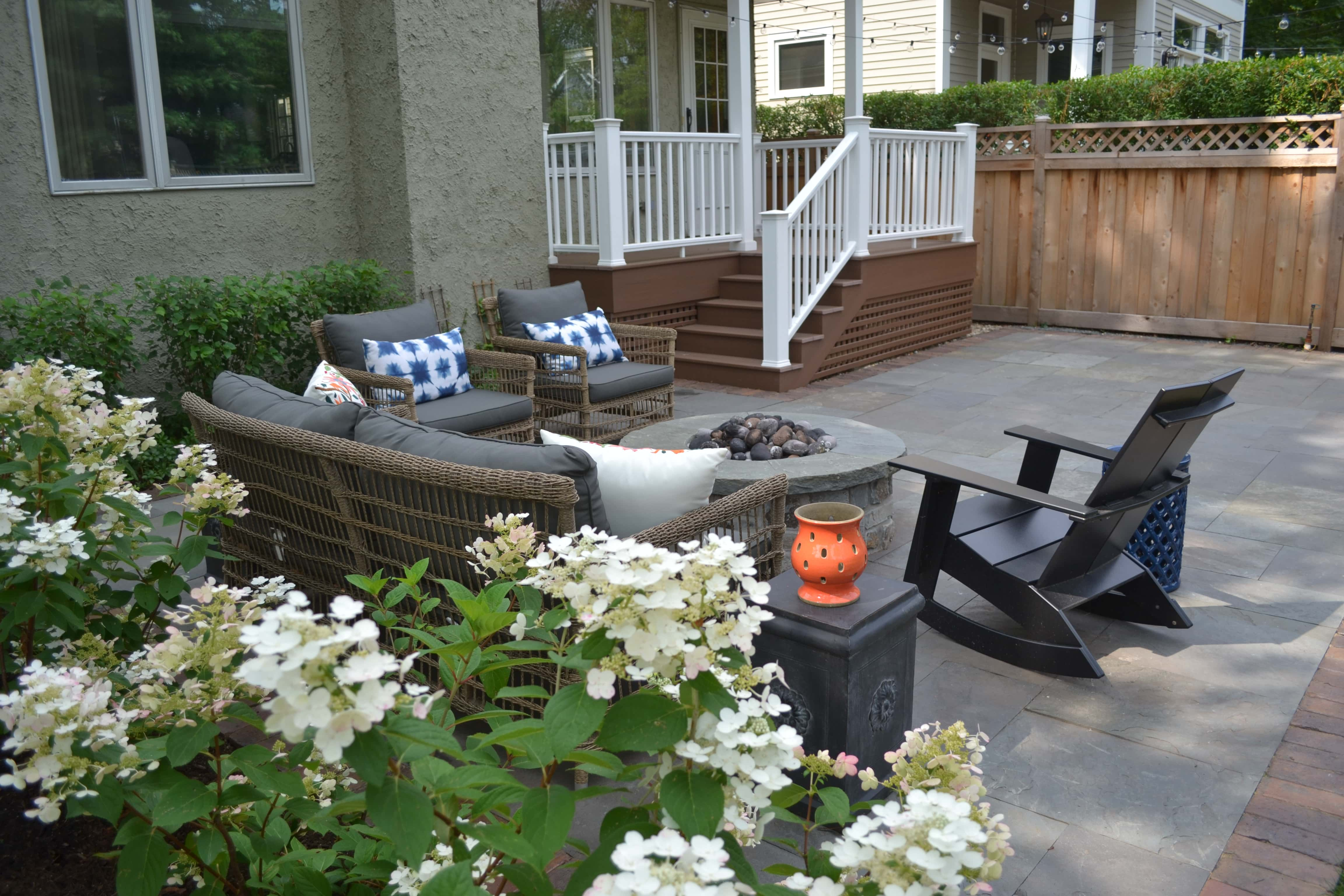 Maintenance Free Deck, Bluestone Patio & Natural Stone ... on Pavers Patio With Fire Pit id=42191