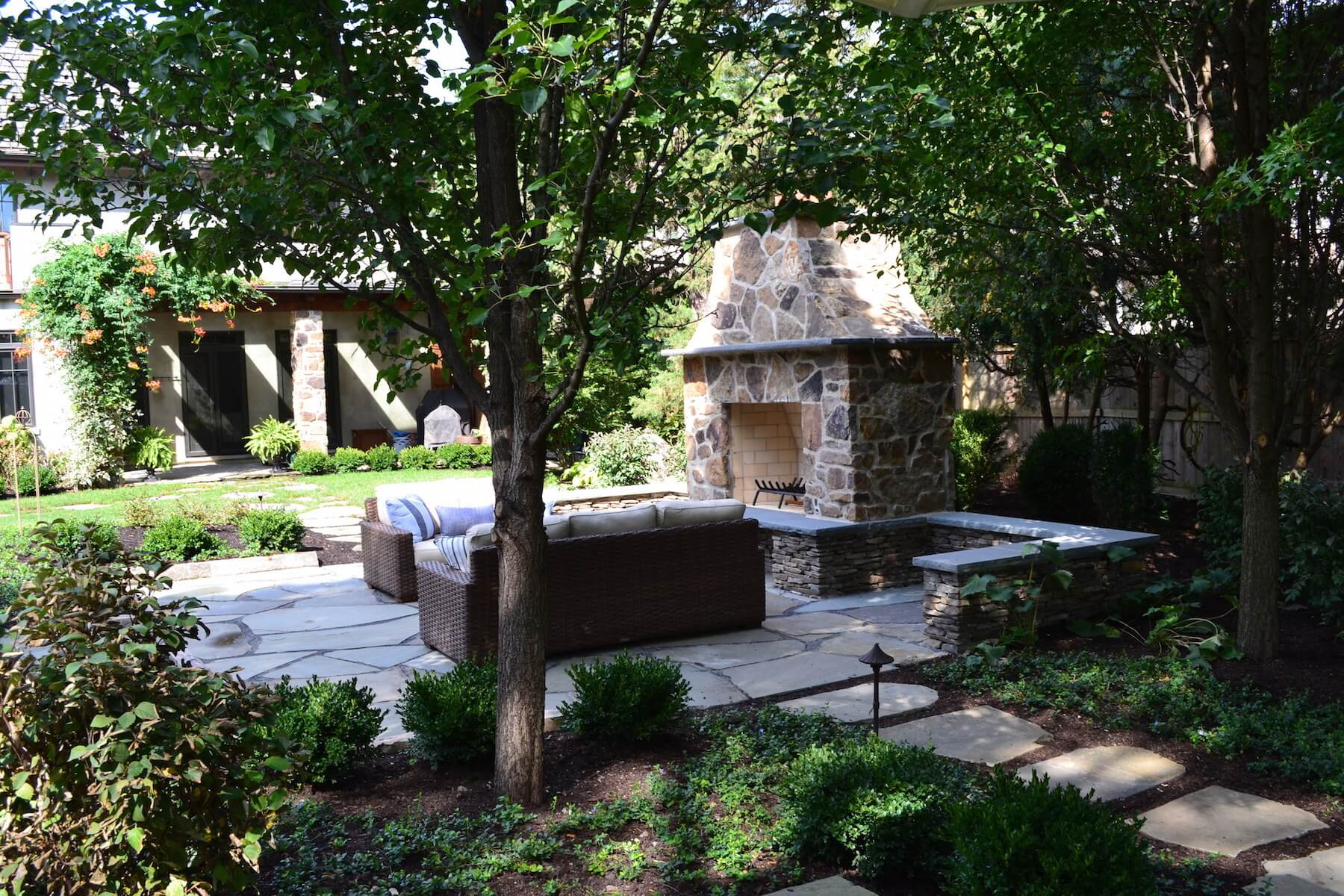 Outdoor Fireplace & Landscaping Northbrook IL