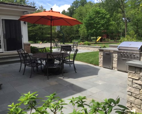 Bluestone Paver Patio Outdoor Kitchen Lake Forest, IL