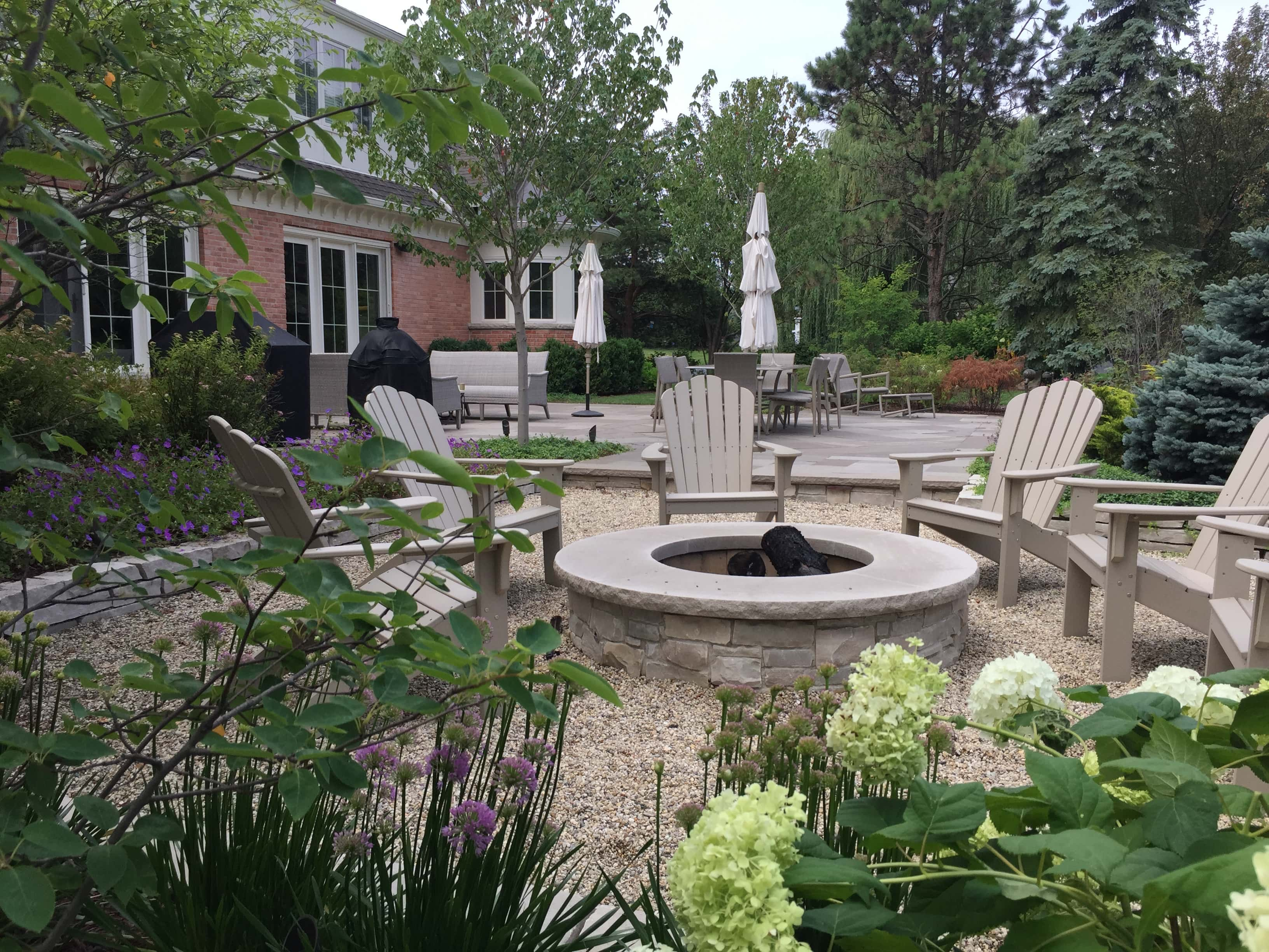 Custom Stone Fire Pit Northfield, IL