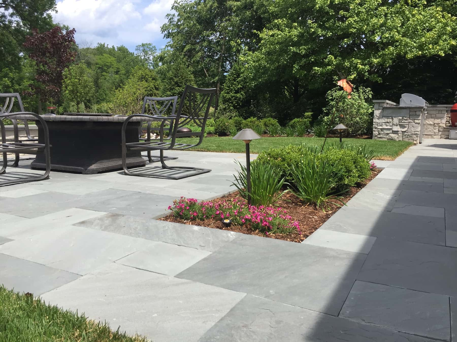 Natural Cleft Bluestone Paver Patio Lake Forest IL