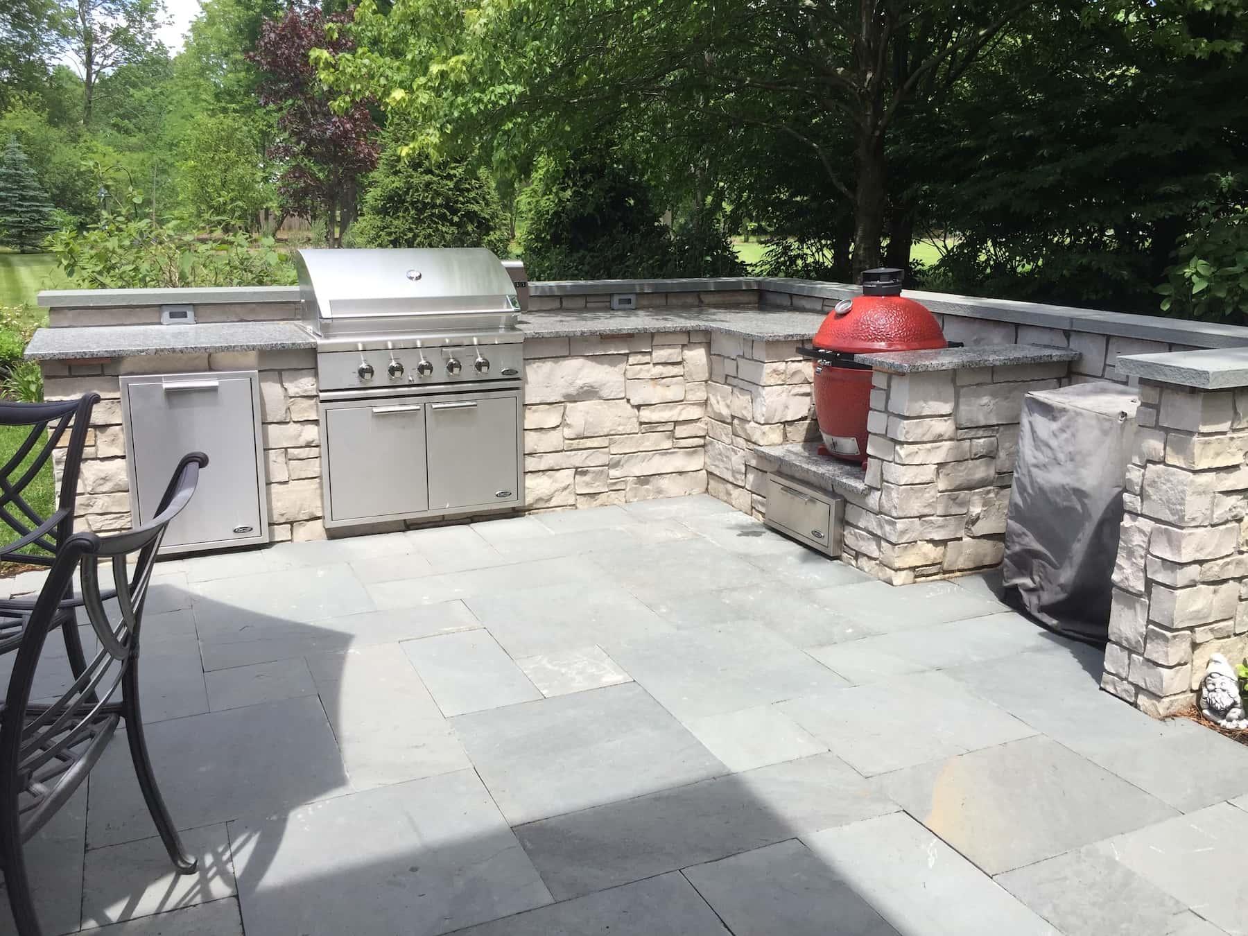 Outdoor Kitchen Granite Countertop Lake Forest IL