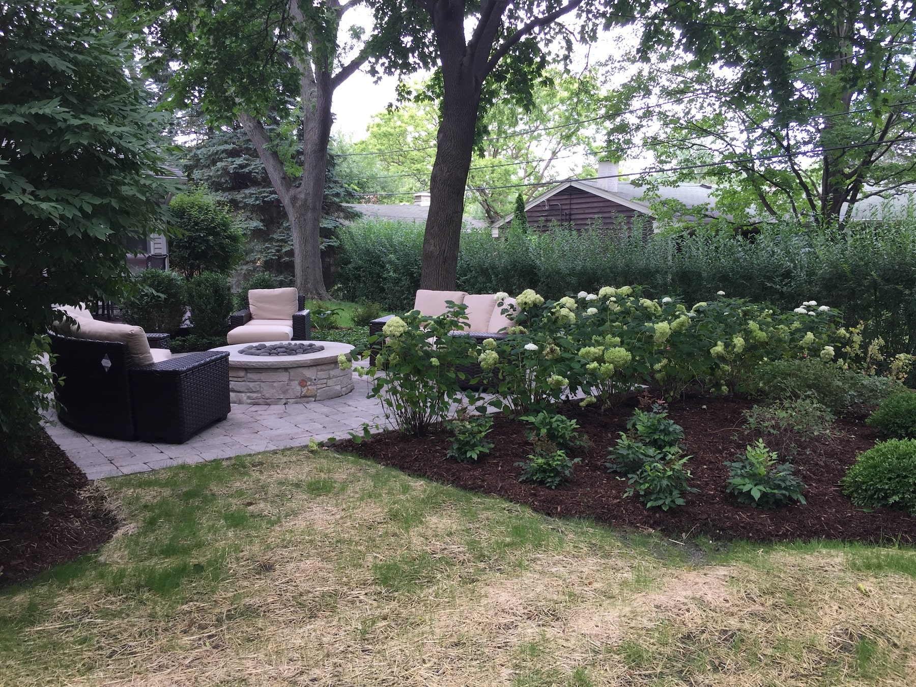 Paver Patio Fire Pit Landscaping Northbrook, IL