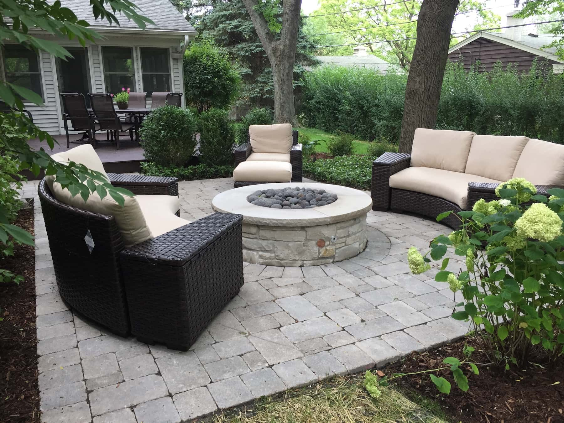 Paver Patio Stone Fire Pit Outdoor Furniture Northbrook IL
