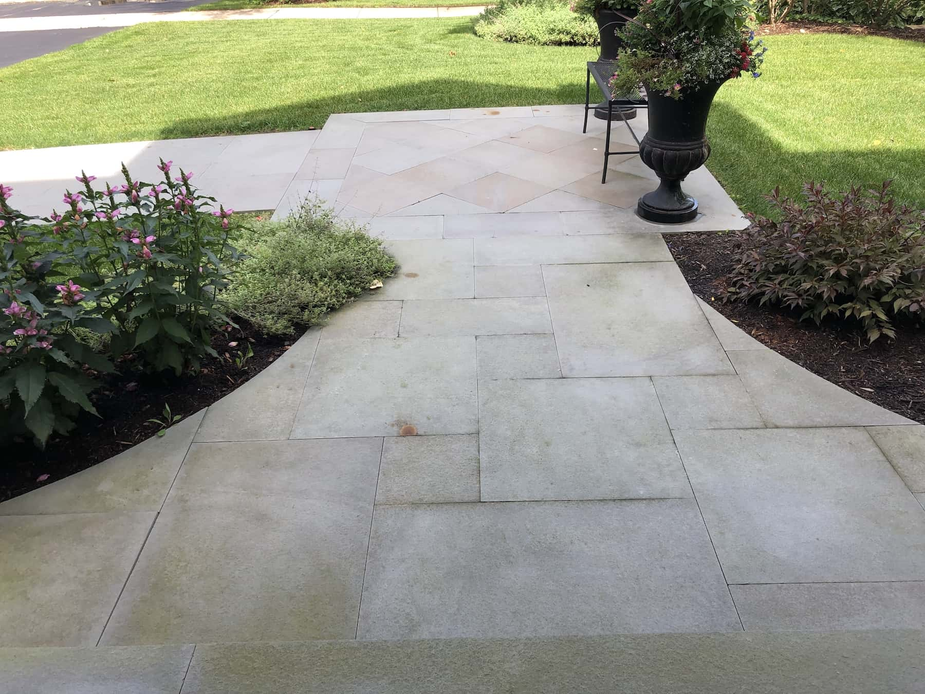 Paver Walkway Thermal Bluestone Northbrook IL
