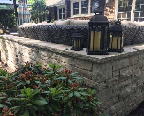 Stone Seat Wall Northbrook, IL