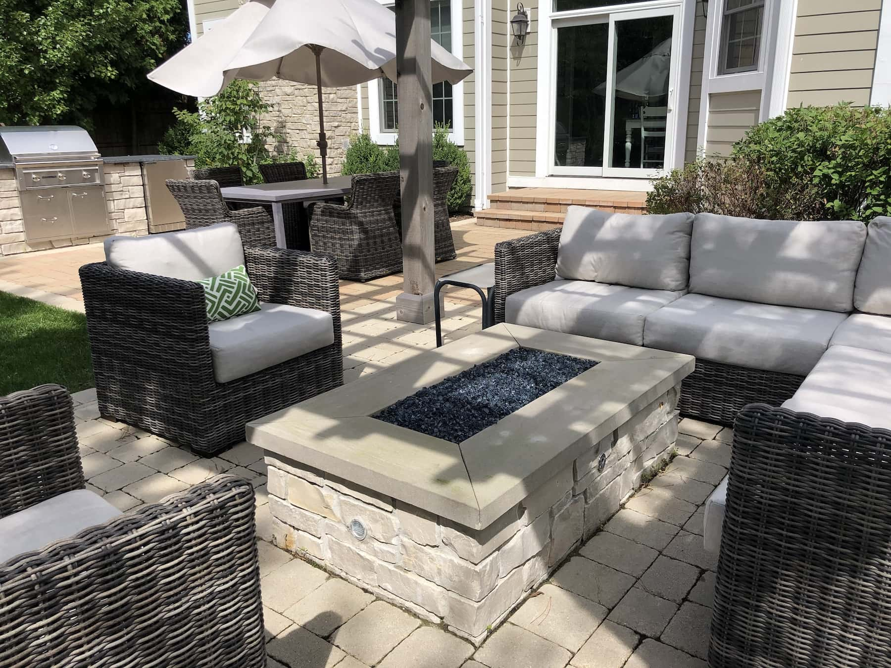 Custom Stone Fire Pit Northbrook, IL