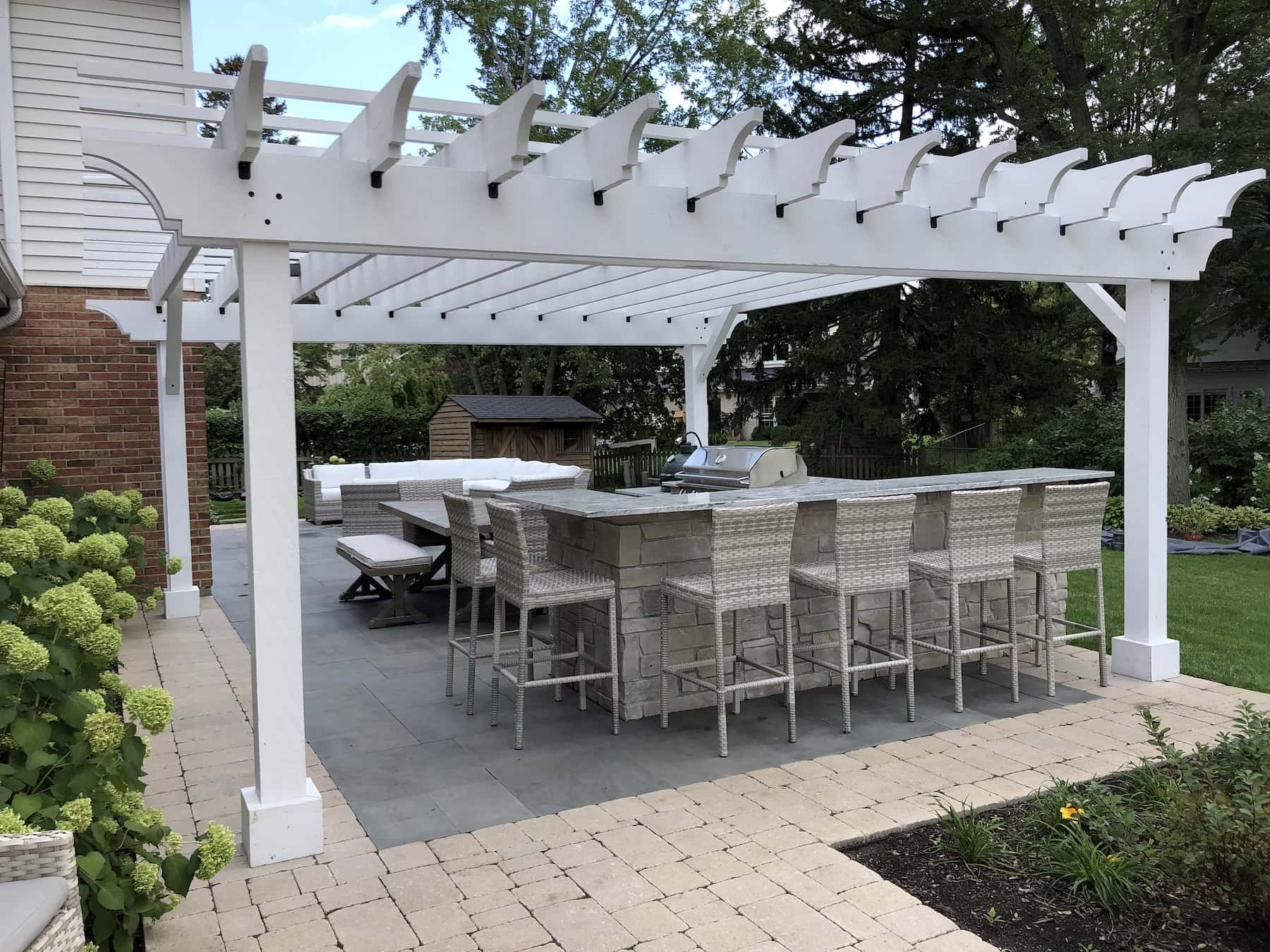 Outdoor Kitchen And Bar Seating Northbrook IL