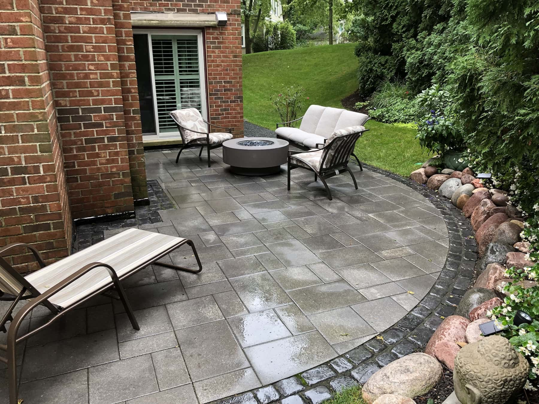 Townhouse Paver Patio & Fire Pit - Winnetka, IL ... on Pavers Patio With Fire Pit id=20718