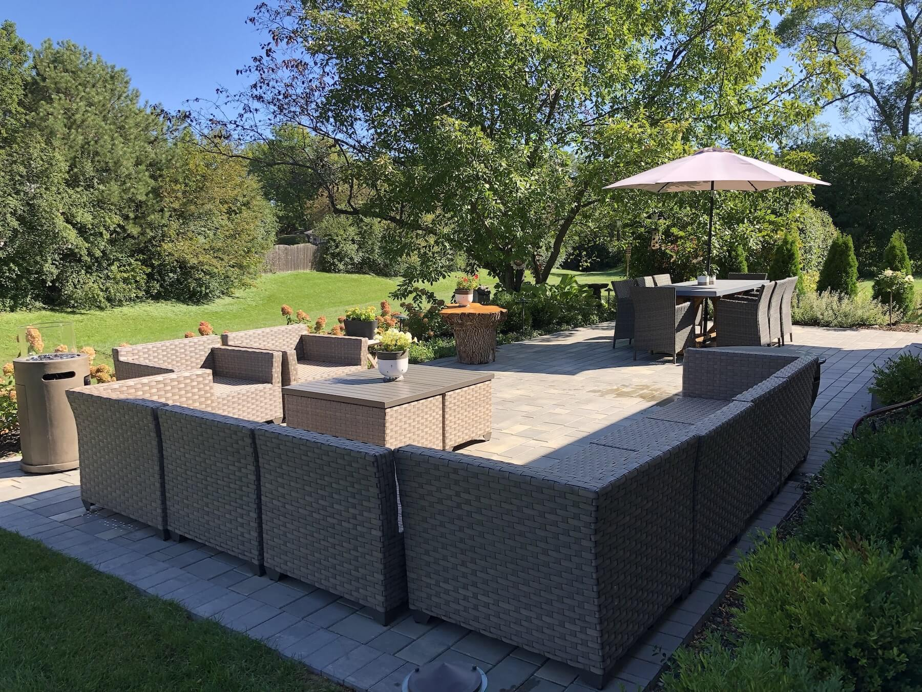 Paver Patio & Lounge Area Northbrook IL