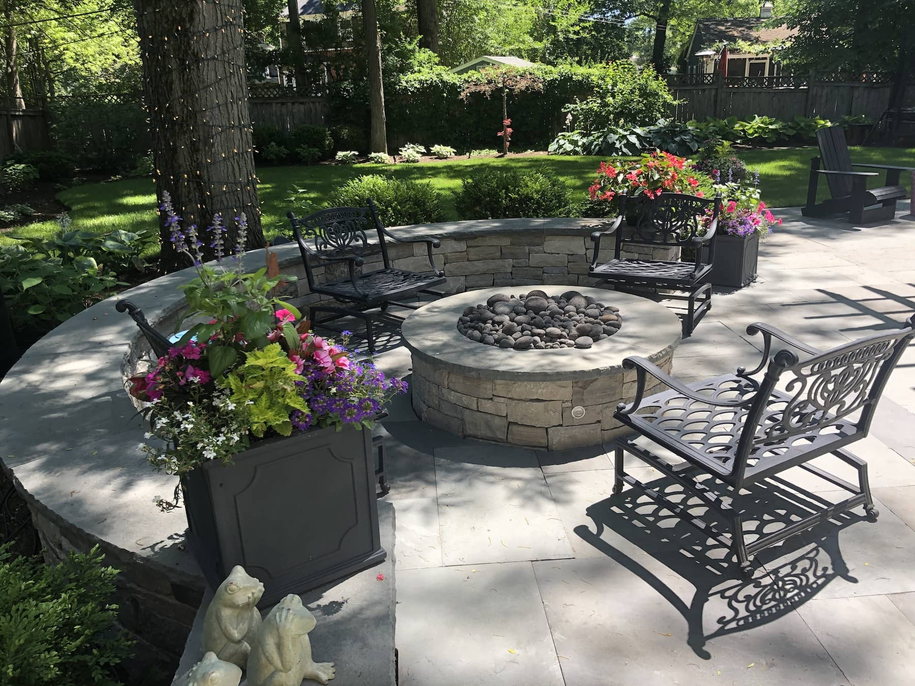 Fire Pit Seating Area northbrook il